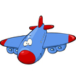 fun airplane vector image vector image