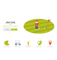 Golf club website concept vector image vector image