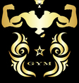 Gym and fitness symbol vector image vector image