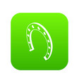 horseshoe icon green vector image vector image