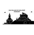 Hungary holloko old village travel skyline