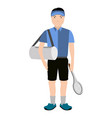 isolated tennis player avatar vector image