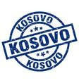 kosovo blue round grunge stamp vector image vector image