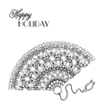 lace ornament fan vector image vector image