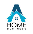 letter a home business logo vector image vector image