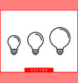 light bulb icon llightbulb idea logo concept set vector image vector image