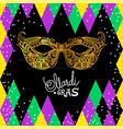 mardi gras carnival mask on black background vector image