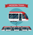 Modern Tram Icon Set vector image vector image