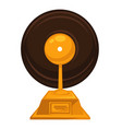 music award with vintage vinyl disc on top vector image vector image