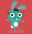 Nerd Bunny Wearing Glasses vector image