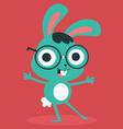 Nerd Bunny Wearing Glasses vector image vector image