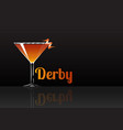 official cocktail icon the unforgettable derby vector image vector image
