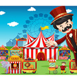 People working at the circus vector image vector image
