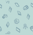 photo outline isometric icons pattern vector image