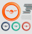 pokeball for play in game icon on the red blue vector image vector image