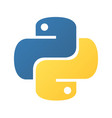 python emblem blue and yellow snakes vector image vector image