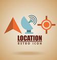 retro icon design vector image