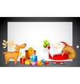 Santa with Gift for Christmas vector image vector image