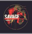 savage california graphic t-shirt design vector image