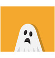 scary ghost came to halloween vector image vector image