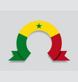 senegalese flag rounded abstract background vector image vector image