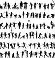 set children silhouettes vector image vector image