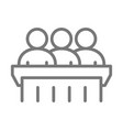 simple jury trial line icon symbol and sign vector image