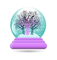 snow globe with a tree vector image vector image