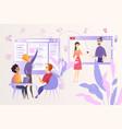 social network developing cartoon concept vector image