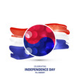 south korea independence day card vector image
