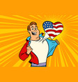sports fan loves usa vector image vector image