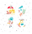 summer compositions color vector image vector image