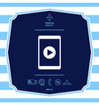 tablet with play button icon graphic elements fo vector image vector image