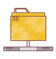 technology data file folder server vector image