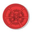 tomato slice icon vector image