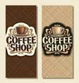 vertical banners for coffee shop vector image vector image