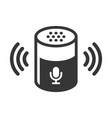 voice device smart assistant icon on white vector image