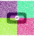 colorful background set seamless pattern curve vector image