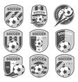 Set of football logos vector image