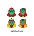 Snake Chinese vector image