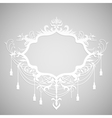 Background with paper calligraphic frame vector image