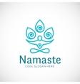 Yoga Namaste or Zen Meditation Abstract vector image