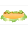 Hot dog with lettuce vector image