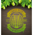 Beer emblem and ripe hops
