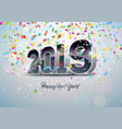 2019 happy new year with 3d number vector image vector image