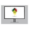 3D image of high definition TV isolated on grey vector image vector image