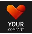 abstract logo heart