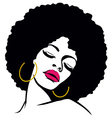 Afro woman vector | Price: 1 Credit (USD $1)