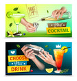 bartender banners set vector image vector image