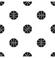 basketball ball pattern seamless black vector image vector image